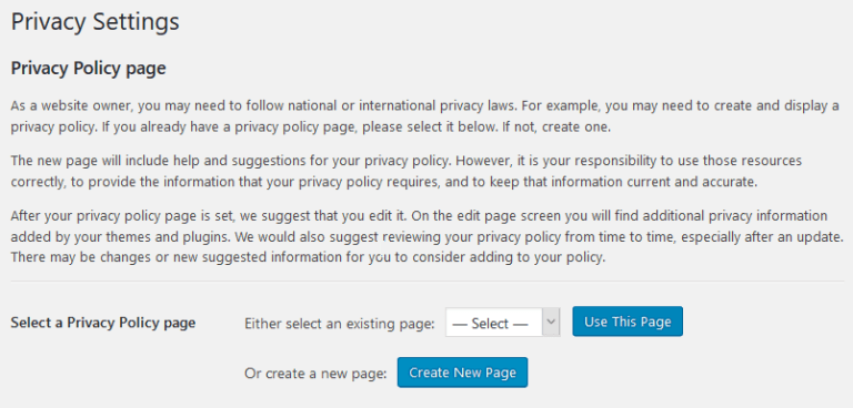 privacy-policy-page-settings