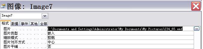 如何在Access窗体中显示指定路径的图片