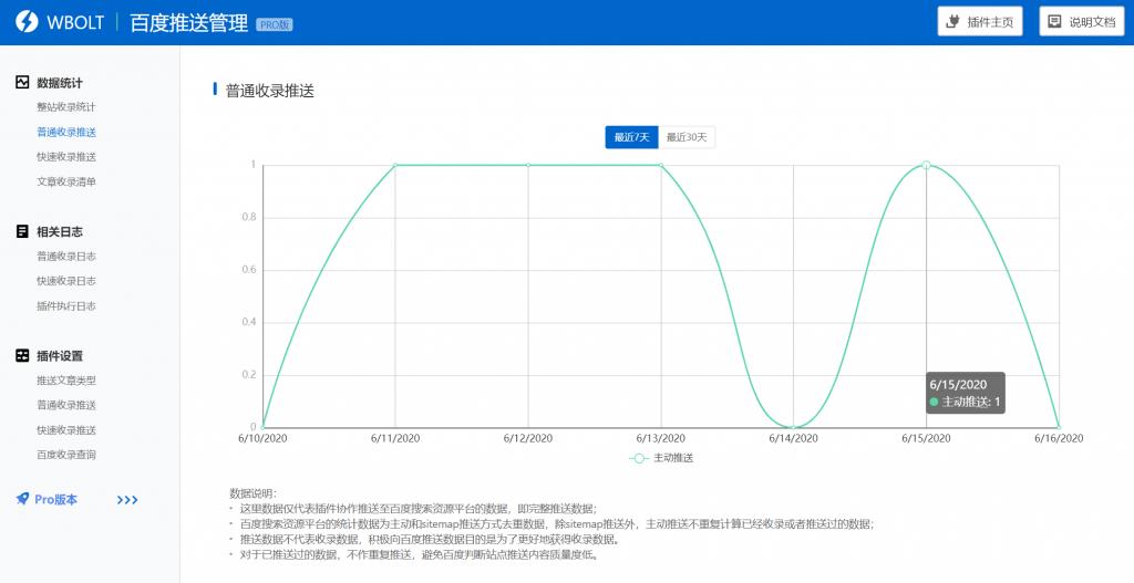百度搜索推送管理WP插件Pro版本-提升百度收录效率插图(2)